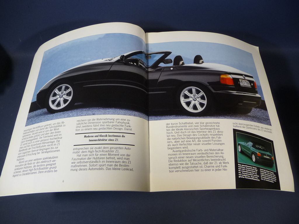 bmw z1 prospekt brochure 1989 ebay. Black Bedroom Furniture Sets. Home Design Ideas